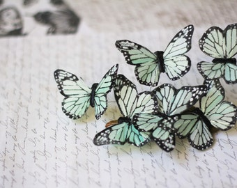 Pastel Mint Butterfly Barrette