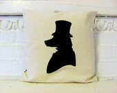 Mr Fox's Silhouette. Large Cushion