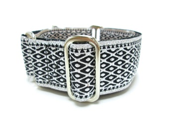 """Houndstown 1.5"""" Chainmaille Silver Unlined Buckle or Martingale Collar, Any Size"""
