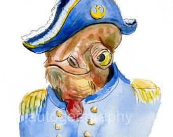 Admiral Ackbar In Uniform multiple sizes