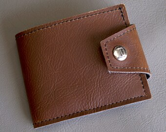 Classic Brown Mens Billfold Vegan Wallet