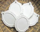 5 Bisque Victorian  Frame  Porcelain