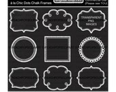 chalk digital frame clipart - a la Chic Dots Chalk Frames - Digital Clip Art