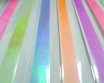 Glossy Pearl Spring Shower Origami Lucky Star Paper Strips - flat pack of 60 strips