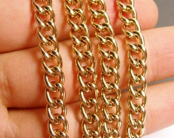 Copper chain  - 1 meter - 3.3 feet - aluminum chain - twisted cable chain -  NTAC113