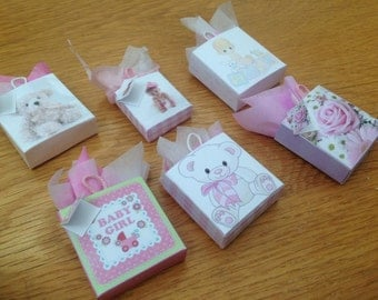 Dolls House Miniatures -  1/12th baby girl  Gift Bags