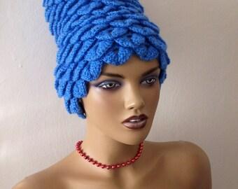Halloween Costume Ideas-Crochet Marge Simpson costume-Crocodile Stitch Hat-crochet marge simpson wig-night costumes