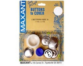 Buttons to Cover Maxant Size 36 Kit Half Ball Mold Pusher 7/8""