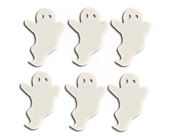 Jesse James Buttons Glitter Ghosts Halloween Button Embellishments Halloween