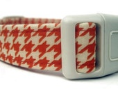Pumpkin Houndstooth Dog Collar - Custom Fall Dog Collar