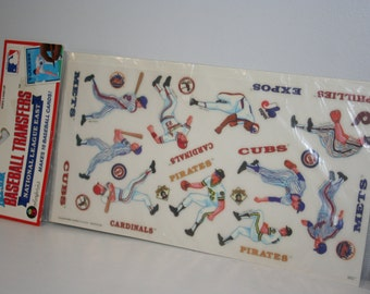 Vintage Colorforms All Star Baseball Transfers, National League East