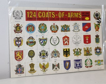 1965 124 Coats of Arms of the World Stamps