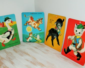 Saalfield 1965 Mother Goose Preschool Inlaid Puzzles