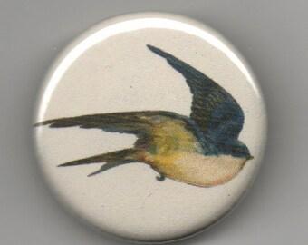 Trio of Swallows 1.25 inch Button