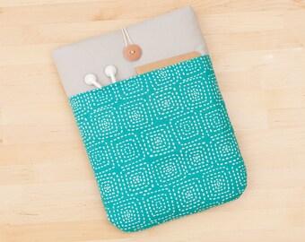 Macbook 12 sleeve / MacBook Air 11 inch Case / Custom Laptop sleeve, Macbook 12 case - blue squares -