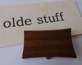 Vintage Belt Buckle Wooden