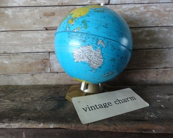 Vintage World Globe Medium Size Made In The USA  Rare Find J. Chein an Company