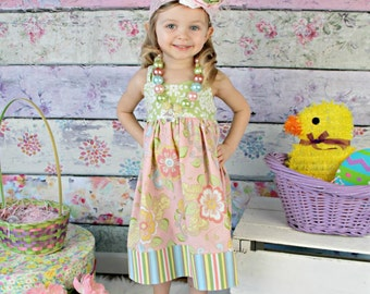 Toddler Girls Dress, Girls Dress, Spring Dress, Sundress, Birthday Dress