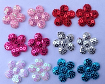 Sequin Flower Appliques for Making your own Hair Clips