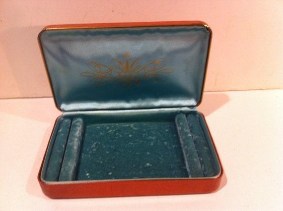 Small Dark Coral Jewelry Box