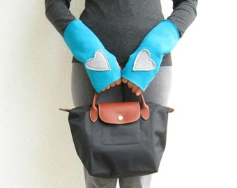 Fingerless Gloves Arm Warmers Mittens Recycled Sweatshirt Mitten Handmade Gloves Girls Gloves Cotton Gloves ohzie