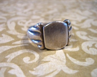 Art Deco Sterling Silver SIGNET Ring