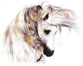 The Romantic White Horse Womans T-Shirt Size M L XL 2XL Free Shipping