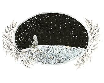 Fine Art Print-Odessa Collects the Starlight
