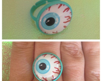 Green Eyeball Ring