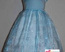 Elsa Frozen Jumper Dress Ice queen Frozen movie