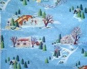 First Snow Alexander Henry light blue fabric FQ or more
