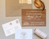 Enchanted Forest wedding invitation suite