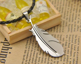Chocobo Feather Pendant - Silver - Final Fantasy Inspired