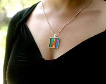 FERTILITY Art Glass Necklace with original art