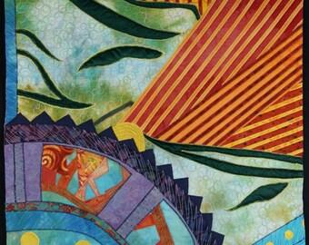 Handmade Art Quilt - Abstract Mine