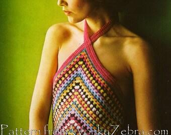 Granny Halter Crochet Pattern PDF 689 from WonkyZebra