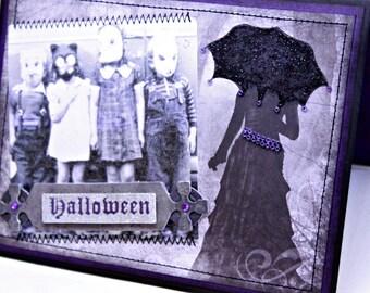 Halloween Card - Eerie Halloween - Vintage Inspired Halloween Card