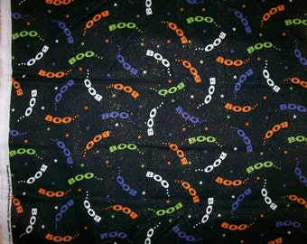 A Halloween Boo Who Trick Or Treat Holiday Fabric By The Yard Free US Shipping