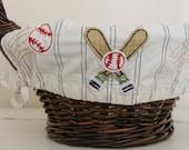 Small Easter Basket Liner -- Baseball -- Free Monogram -- Free Domestic Shipping