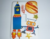 Spacebot light switch cover - Custom order for Tori