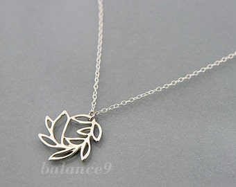 Branch necklace, sterling silver swirl branch charm pendant, delicate everyday jewelry, holidays gift, wedding, bridesmaid, by balance9