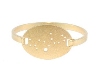 Virgo Gold Flash Constellation Hinged Bracelet