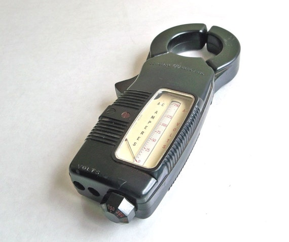 Amp Meter Clamp On : Vintage ge amp volt clamp meter tester with original leather