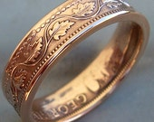 Canadian Large Cent Copper Coin Ring (Available in sizes 5 through 10)