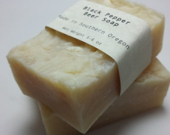 Black Pepper Beer Soap - Vegan - Handmade Soap