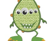 Zeth the Silly Monster Applique