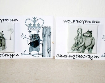Wolf buttons Wolf drawing Wolf  Pin Button Badges 38 mm Wolf  boyfriend and Snow queen square badges