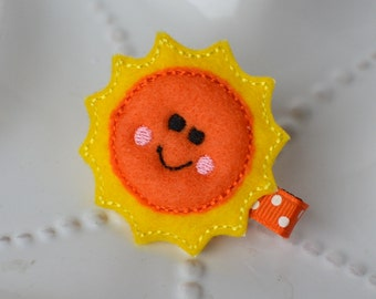 Happy Sunshine Hair Clip for Spring, Summer, or Vacation