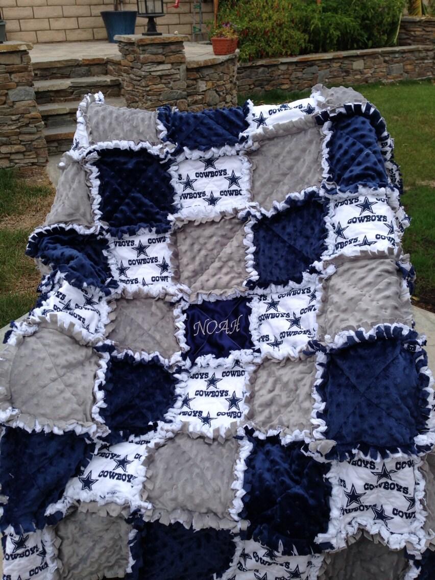 Rag Quilt Blanket For Baby Girl Or Boy In Dallas Cowboy