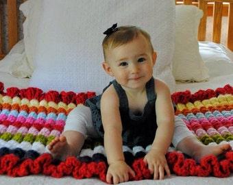 Baby Blanket Crochet - Rainbow Baby Blanket - Rainbow Nursery Decor - Rainbow Crib Blanket - Crochet Baby Blanket - Blankets for Babies -